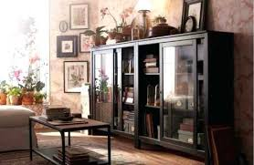 incredible glass door cabinet classy ideas shelves magnificent black hemnes with 3 drawers brown