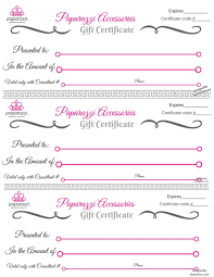 Printable Gift Certificates Online Free Paparazzi Gift Certificate