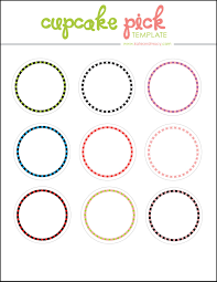Kate Free Digital Cupcake Pick Topper Template Printables