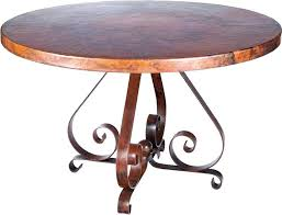 hammered copper top coffee table riverside chalet dining room dinnerware round hammered copper table top restaurant tables