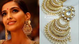 Amazing ideas indian bridal jewellery designs Pinterest Big Kundan Chandbaali Earrings Design Ideas For Indian Wearindian Wedding Jewellery Design Youtube Big Kundan Chandbaali Earrings Design Ideas For Indian Wearindian