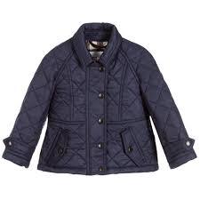 Baby Girls Blue Quilted Jacket | Childrensalon Outlet & Burberry - Baby Girls Blue Quilted Jacket | Childrensalon Outlet Adamdwight.com
