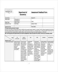 Sample Assessment Form 48 Sample Assessment Forms Free Premium Templates