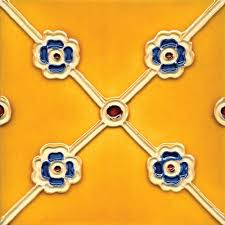 6X6 Decorative Ceramic Tile Solistone HandPainted Corona Deco 600 in x 600 in Ceramic Wall Tile 54
