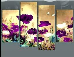 floral canvas wall art field poppies floral 4 panel canvas wall art purple plum 3 for  on canvas wall art purple flowers with floral canvas wall art field poppies floral 4 panel canvas wall art