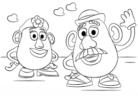 mr and mrs potato head coloring pages. Mr And Mrs Potato Head Coloring Page Intended Pages Supercoloringcom