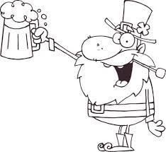 Gelukkige Kabouter Toost Met Een Mok Bier Kleurplaat Gratis