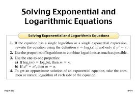solving logarithmic equations with exponents jennarocca