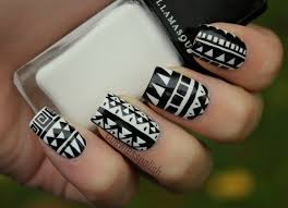 Black/White Tribal | Patterns, Stylish nails and Aztec nails