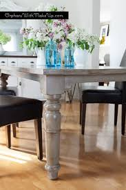 a beautiful rustic finish on a pine dining table with coco country grey chalk paint