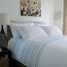 the white room white green stripe flanders cotton single duvet set