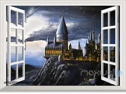 harry potter castle wall art