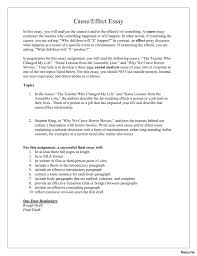 cause and effect essay examples resume example sample   007452672 1 cause and effect essay resume 22a examples obesity critical literature review guidelines 31a