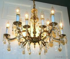 astonishing old brass chandelier medium size of glass on and pertaining to awesome residence brass crystal chandelier prepare