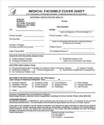 Printable Fax Sheet 9 Medical Fax Cover Sheet Word Pdf Free Premium Templates