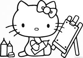 Lovely hello kitty under the umbrella coloring page from hello kitty category. Hello Kitty Coloring Pages Cartoons Hello Kitty Cl37 Printable 2020 3171 Coloring4free Coloring4free Com