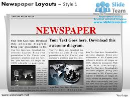 newspaper ppt template news on newspaper layouts style design 1 powerpoint ppt templates