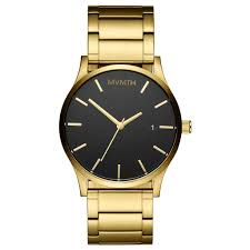 men s black and gold watch by mvmt join the mvmt classic black gold
