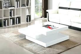 glossy white coffee table white coffee table modern designer high gloss white rotating swivel square coffee glossy white coffee table