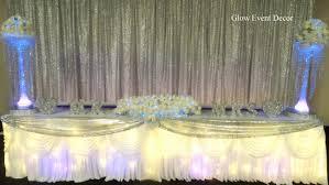 wedding table lighting. Silver Sequin Twinkle Fairy Light Bridal Wedding Table Backdrop With Chiffon Overlay \u0026 LED Lighting ,