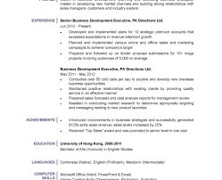 100+ Resume Sample For Business Development Executive | Business ...