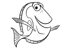 Disegno Del Pesce Dory Da Stampare Gratis E Da Colorare