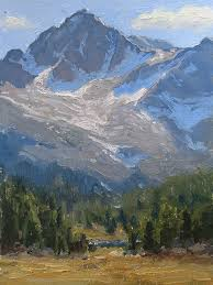 into the high country by kathleen dunphy oil 12 x 9