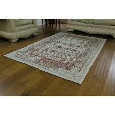 isfahan distressed traditional persian rug with border large