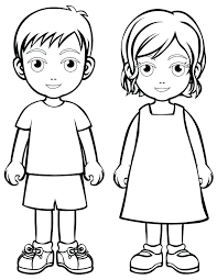 Boy And Girl Coloring Page Boy And Girl Coloring Page Ideas For Work