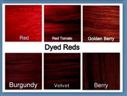 Shades Of Red Hair Color Chart Velvet Hair Color Chart Sbiroregon Org