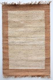 jute rugs natural with brown border heugah interiors jute rug with cotton border