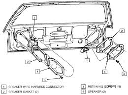 repair guides entertainment systems speakers autozone com Speaker Harness Autozone 4 view of the rear speaker mounting on a station wagon 1994 vehicle shown 4X6 Car Speakers Auto Zone