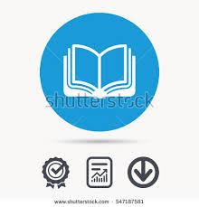 book icon study literature sign education stock vector  study literature sign education textbook symbol achievement check and