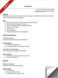 58 Recent Pharmacy Technician Resume Example Resume Template