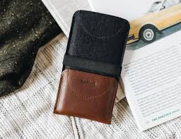 band roll kangaroo leather smartphone wallet case