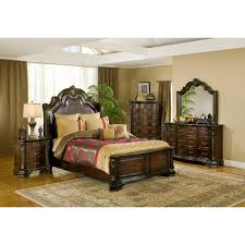 King Bedroom Furniture Alexandria Bedroom Bed Dresser Mirror King B1100 King