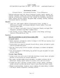 Environmental Scientist Resume for LinkedIn. Sarah C. Braddy 6533 Patti  #2004 Corpus Christi, TX 78414 (361) ...