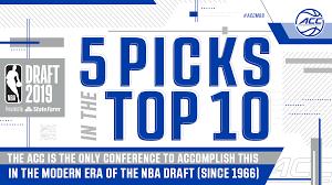 six lottery picks in 2019 NBA Draft ...