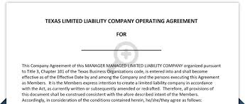 template for llc operating agreement texas llc operating agreement free template