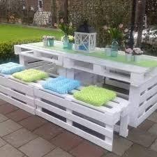 wooden pallets furniture ideas. Exellent Ideas White Pallet Patio Set Throughout Wooden Pallets Furniture Ideas U