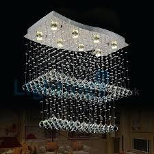 drop lighting modern contemporary chandelier flush mount led pendant fixture crystal rain drop light for high