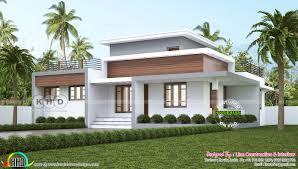Kerala Home Design One Floor Plan 1300 Square Feet 3 Bedroom Flat Roof House Plan Single Floor