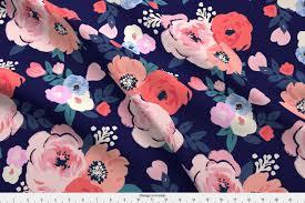 Aurora Design Fabrics Spoonflower Floral Fabric Aurora Floral By Crystal Walen Printed On Fleece Fabric By The Yard