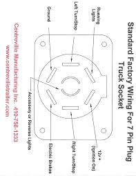 standard factory wiring for 7 pin tow vehicle receptacle