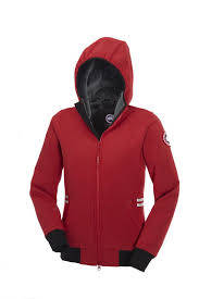 Canada Goose Women Red Tremblant Full Zip Hoody Jackets CAD273.11 http