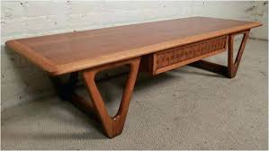 lane coffee table mid century modern acclaim refinish