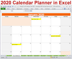 March 2021 monthly calendar for the united states with american holidays. 2020 Calendar Year In Excel Spreadsheet Printable Digital Download Buyexceltemplates Com