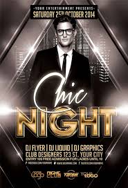 Free Flyer Download The Free Chic Night Free Flyer Template