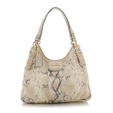 Coach Madison Python Embossed Maggie Shoulder Bag