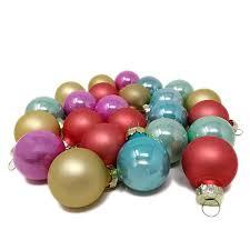 Toci Mini Weihnachtskugeln Pastell Bunt Aus Glas 24er Set